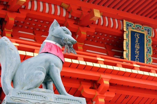 Kitsune-Statue