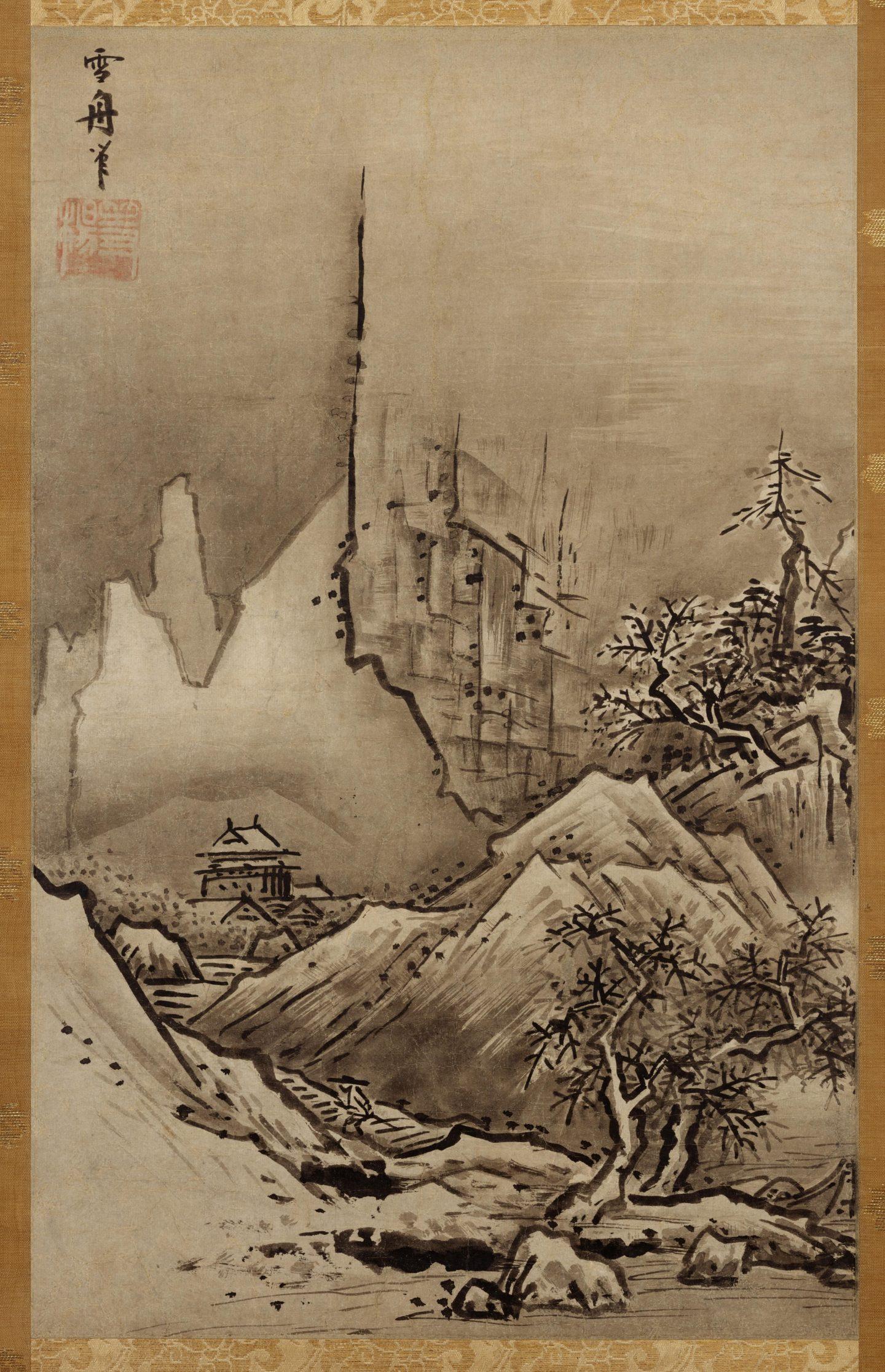 """""""Herbst- und Winterlandschaft"""" von Sesshū (1420-1506)."""