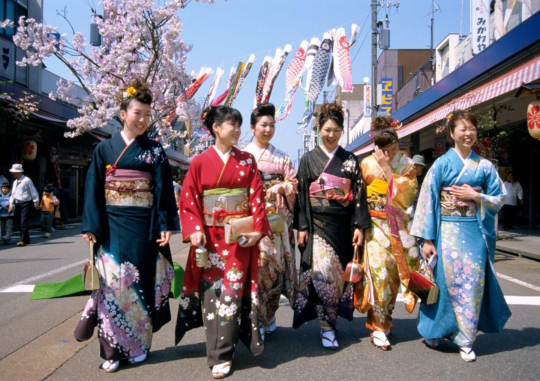 kimono und yukata: traditionelle japanische kleidung
