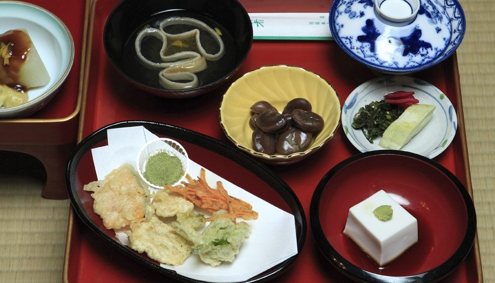 Abendessen Tempel Japan Koyasan