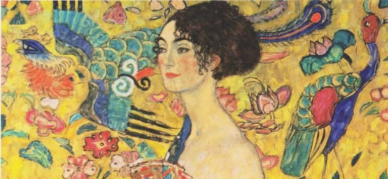 Gustav Klimt Dame mit Fächer