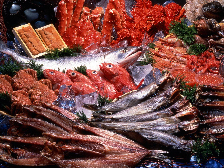 Meeresfrüchte Hokkaido