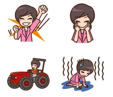 Abe Akie Line-Sticker