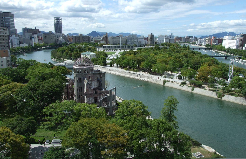 Sicht auf Hiroshima und das Atombomben-Museum