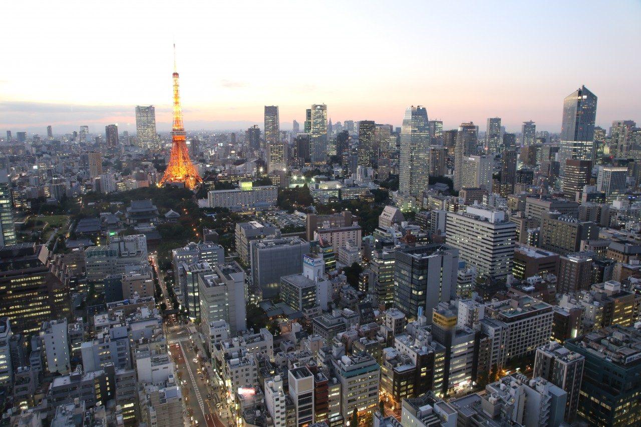Tokyos Skyline mit Tokyo Tower