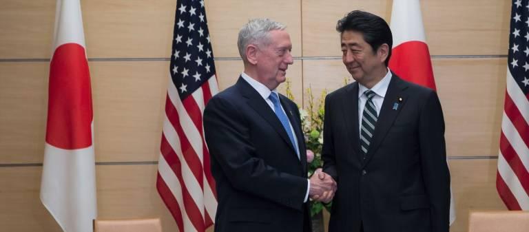 Mattis Japan Abe