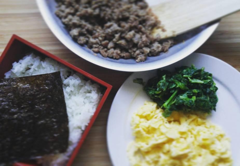 Bentō Soboro Japanisch kochen Rezept