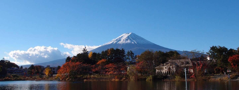 Fuji-san sehen Stadt Nähe Fujikawaguchiko
