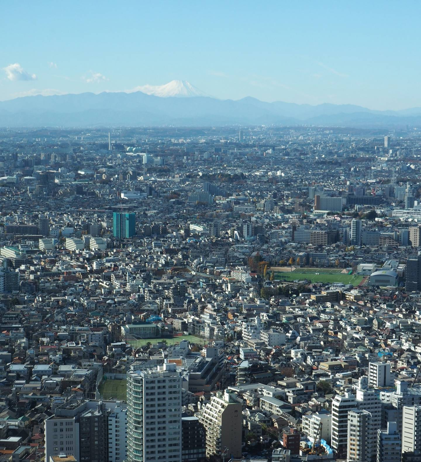 Mount Fuji-san sehen Tokyo Metropolitan Government Building