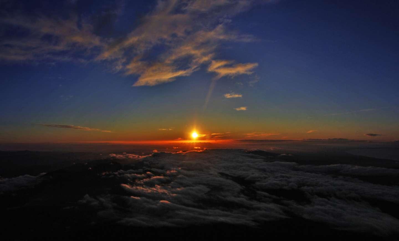 Fuji-san Bergsteigen Besteigen Klettern Tour Spitze Japan Wandern Fujiyama Fuji Fujisan