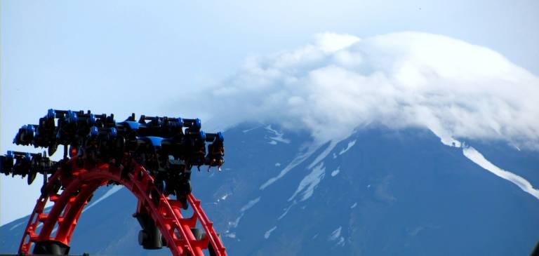 4th Dimension Coaster Eejanaika Fuji-Q Highland Japan Vergnügungspark