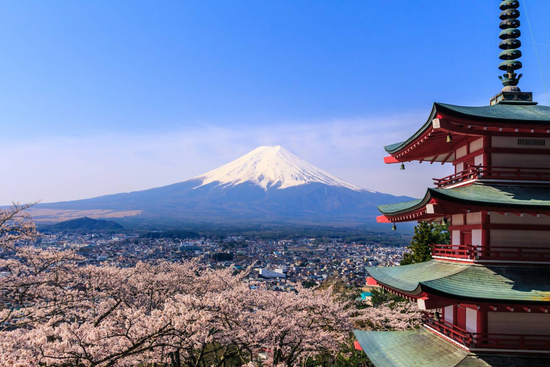 Mount Fuji-san sehen Kamakura Enoshima