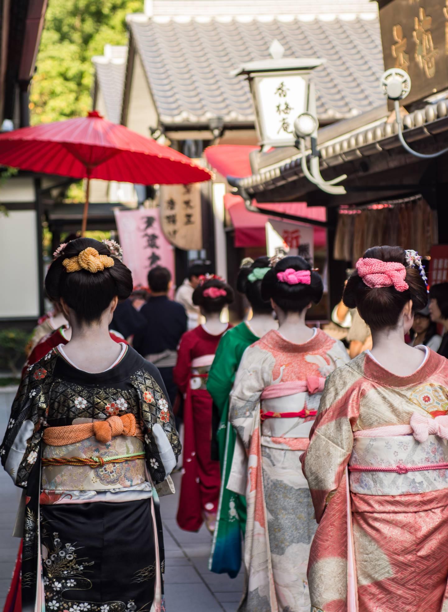 Edo-Zeit Edo Japan Tokyo Geisha Oiran Prostituierte