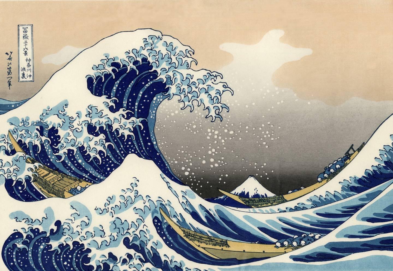 Unter der Welle im Meer vor Kanagawa