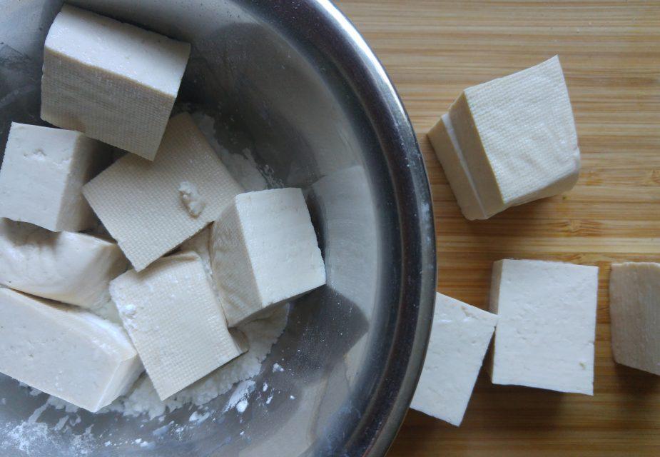 Gekochter Tofu für Bentô-Box