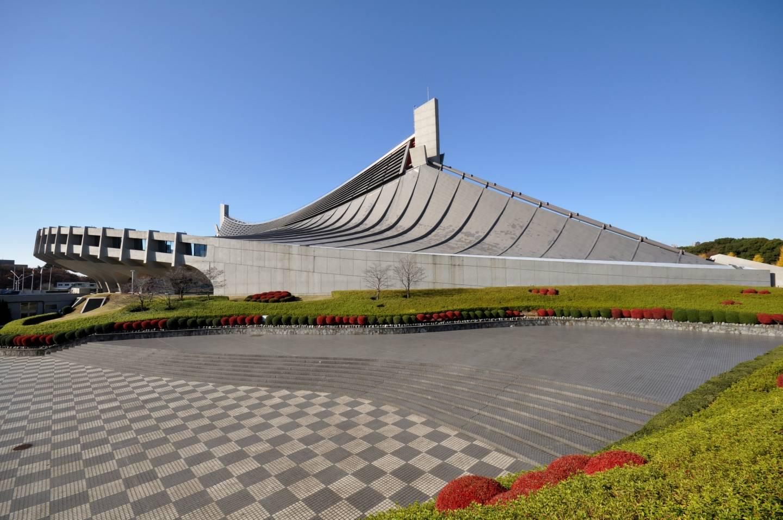 olympische Schwimmhalle in Yoyogi