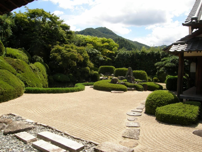 Der Garten des Raikyū-ji in Bitchū-Takahashi