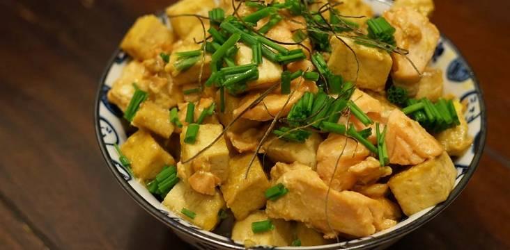 Lachs mit Tofu