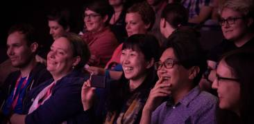 Lachendes Kinopublikum bei der Nippon Connection