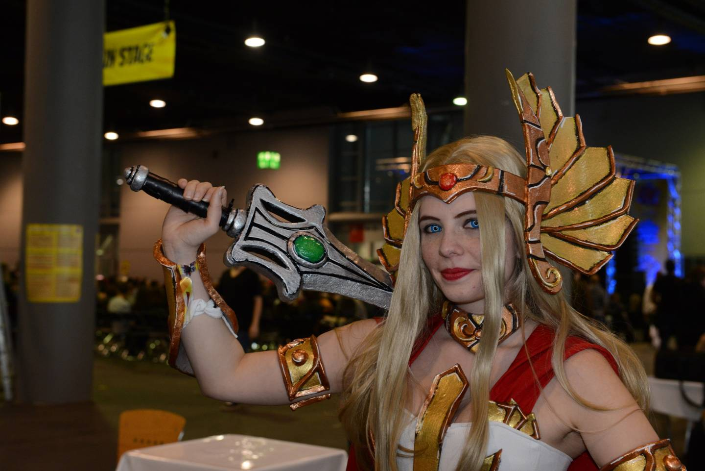 Cosplayerin bei der German Comic Con