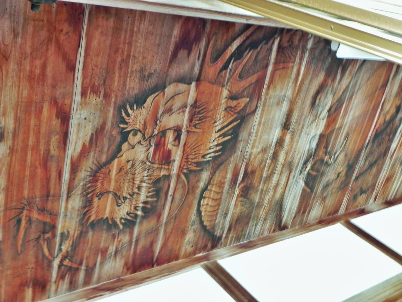 Drachenmalerei im Tempel Tairyū-ji