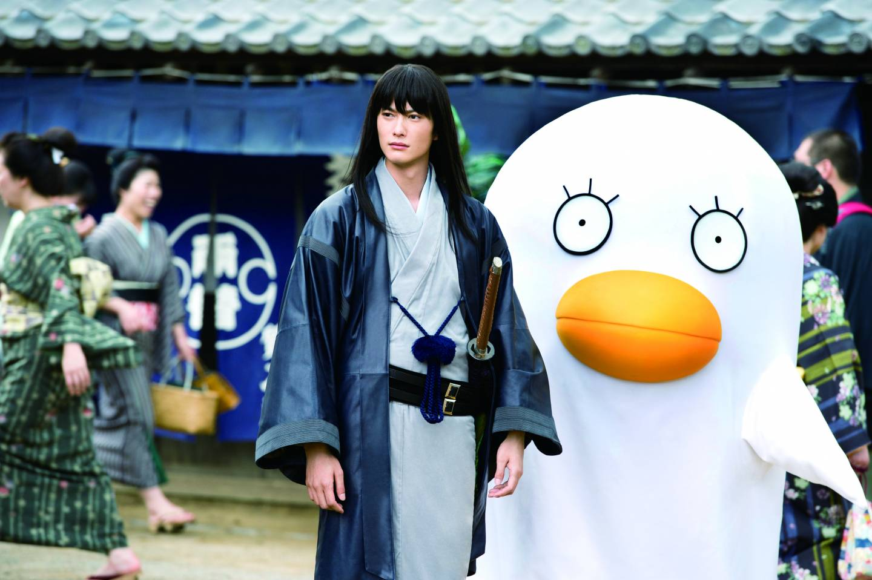 Filmausschnitt Gintama: Samurai mit großer Ente