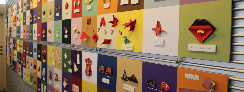Verschiedene Origami-Modelle