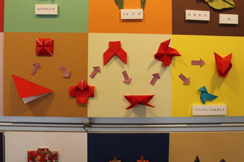 Origami-Faltanleitung für einen Vogel