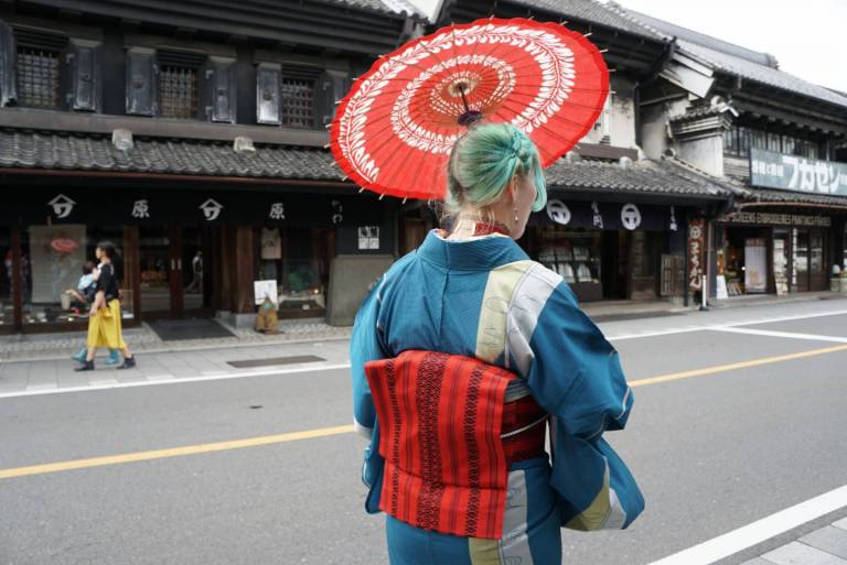Im Kimono in Kawagoe