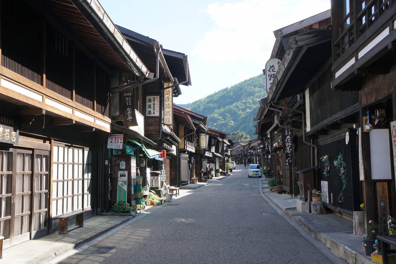 Häuserreihen inNarai-juku