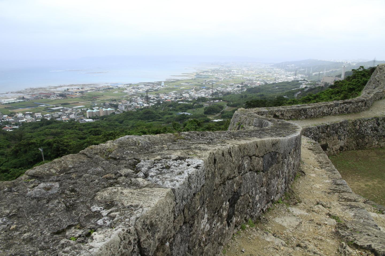 Die Ruinen des Schlosses Nakagusuku