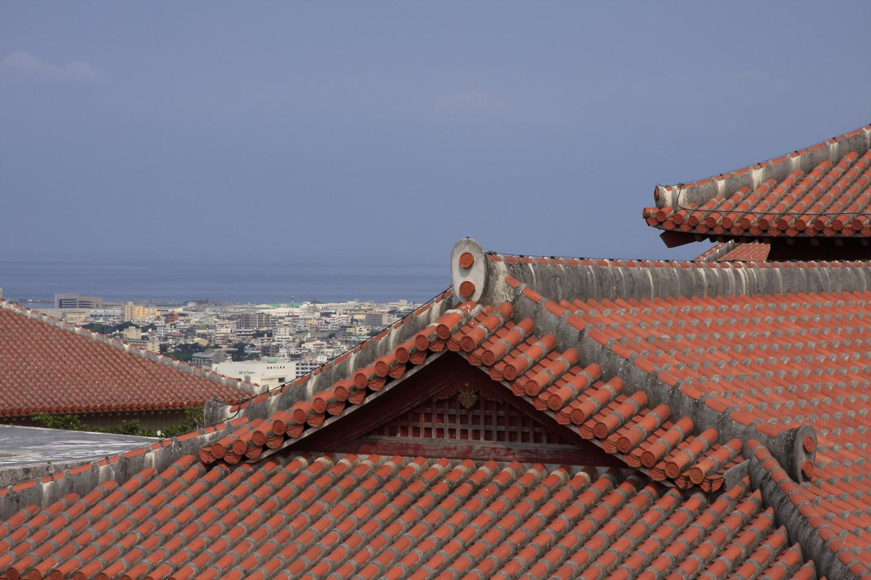 Dach des Schlosses Shurijo
