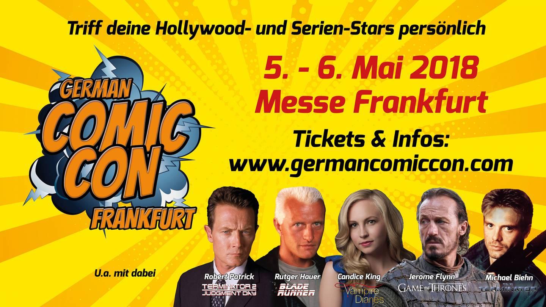 Banner der German Comic Con Frankfurt 2018