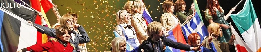 Cosplay-Theatergruppe auf der Bühne