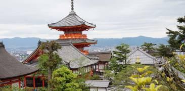 Der Kiyomizudera mit Ausblick über Kyoto