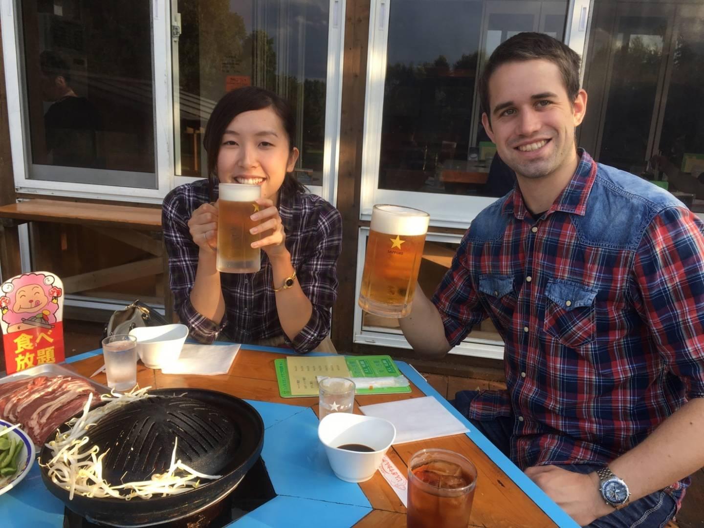Biertrinken in Sapporo