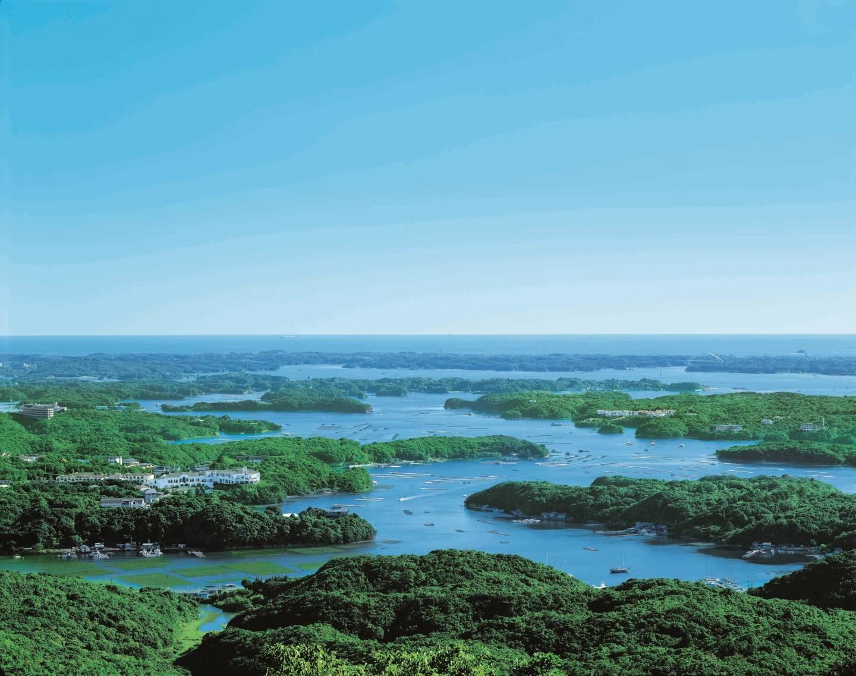 Ausblick über die Ago Bucht und Kashikojima