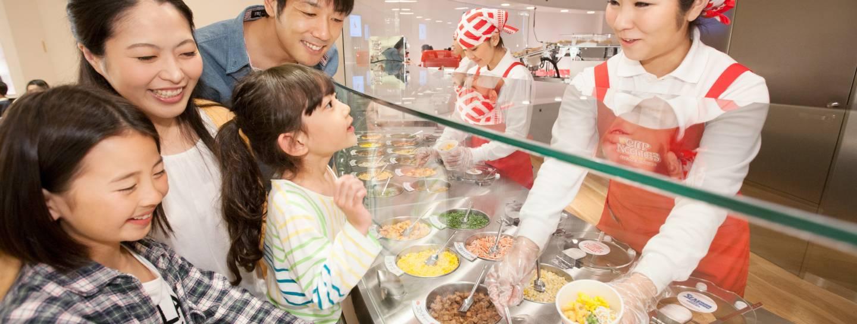 cupnoodle-theke im cupnoodles museum yokohama