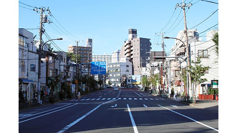 ausblick auf die nachbarschaft in kiyosumi