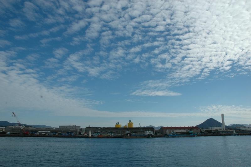 Die Aussicht über Hiroshima Bay