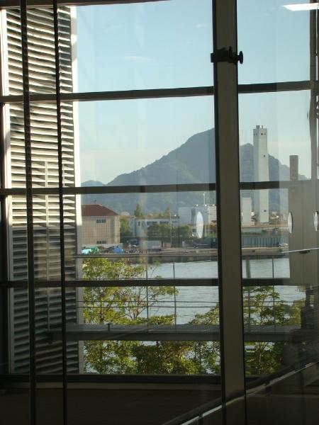 Blick aus dem Fenster der Naka Verbrennungsanlage