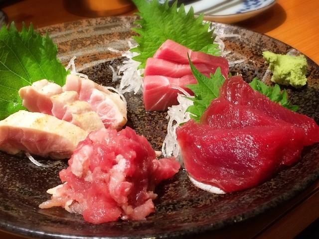 Sashimi mit grünem Shiso