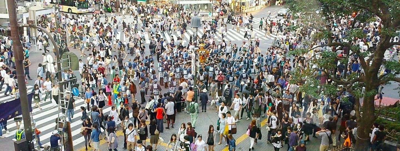 geschäftige fußgängerstraße japan