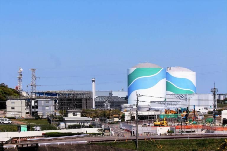 Ein japanisches Atomkraftwerk in Kagoshima.