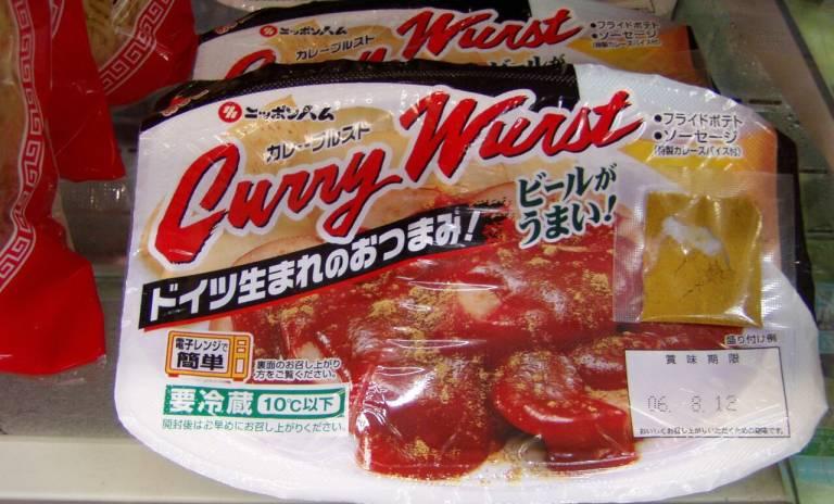 Currywurst im japanischen Konbini
