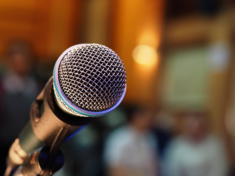 Nahaufnahme Mikrofon