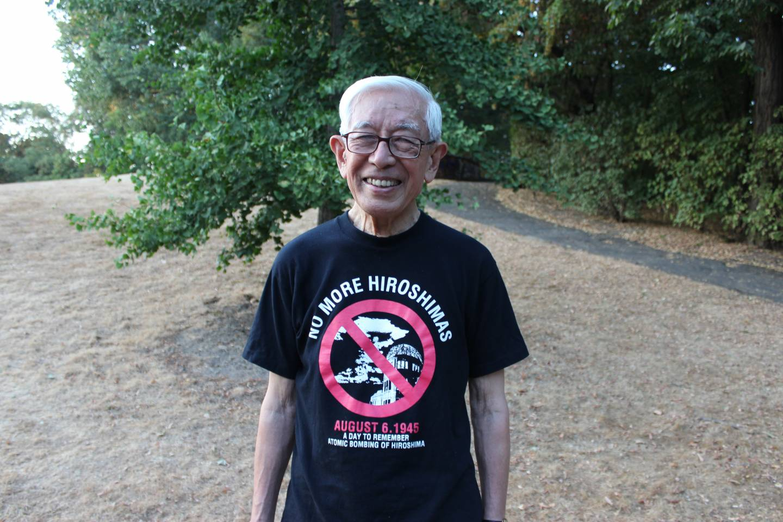 Hirata Michima im Hiroshima-Nagasaki-Park Köln.