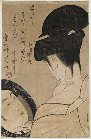 Kitagawa Utamaro, Schminkszene, um 1795/96, Giverny, Fondation Claude Monet, © Giverny, Fondation Claude Monet