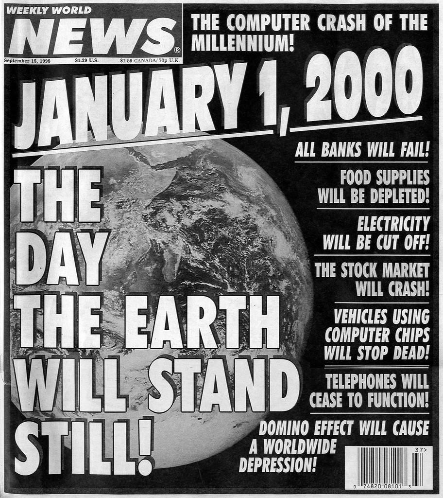 """""""1. Januar 2000: Der Tag, an dem die Erde still stehen wird."""" Vor der Jahrtausendwende machten Medien Panik vor einem weltweiten Computer-Crash."""