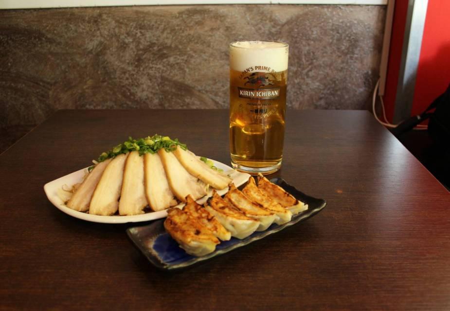 gyoza und bier